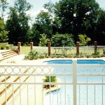 Aluminum Circle Border Pool Fence
