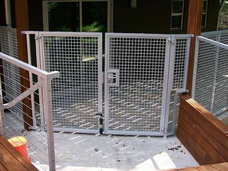 Garden courtyard wine cellar gates metal fabrication