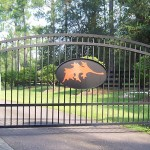 Arch Top Gate With Maple Leaf Center