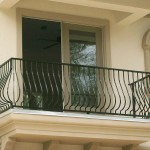 Belly Picket Black Exterior Balcony Railing