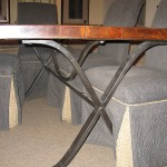 Black Iron Table Base