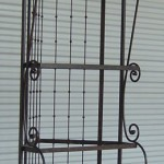 Iron Scroll Corner Bakers Rack