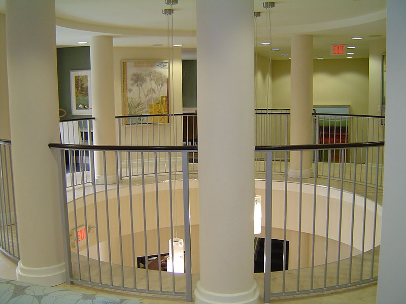 Interior railing metal fabrication aluminum fabrication for Balcony interior