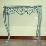 Iron Entry Table with Curved Legs