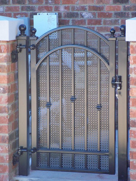 Garden courtyard wine cellar gates metal fabrication