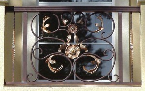 Forged Scroll Panel Balcony Railing