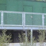 Generator Platform With Wire Mesh Railing