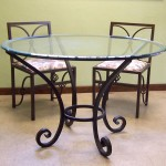 Forged Iron Table with Glass Top