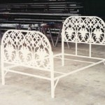 Iron Bed Frame With Garden Casting