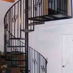Spiral Stair With Forged Scroll Picket