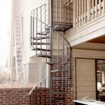 Spiral Stairs With Mesh Treads