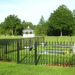 Straight Picket Cemetery Fence With Spears