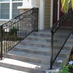 Straight Picket Railing With Forged Scroll Border