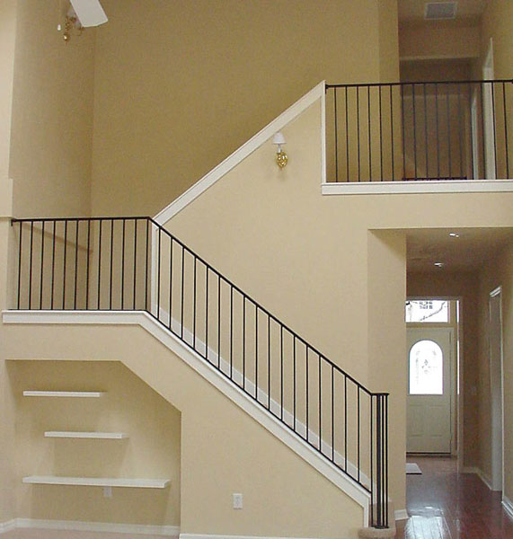 Interior railing metal fabrication aluminum