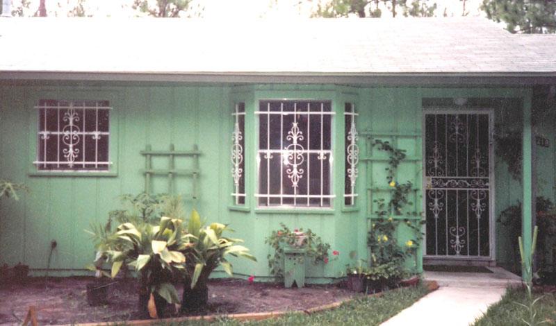 White Window Bars And Security Door