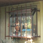 Window Bars With Scroll Fleur Castings For Garden Window