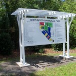 Pergola Style Directory and Map for Industrial Park
