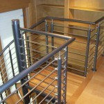 Stainless Steel and Aluminum Spiral Stair Loft Railing