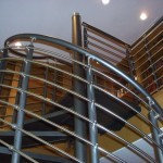Stainless Steel and Aluminum Spiral Stair