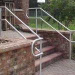 Aluminum Pipe Stair Railing