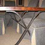 Black Iron Table Base