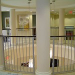 Curved Interior Balcony Railing With Straight Pickets