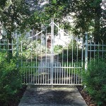 Double Entry Gate With Dog Pickets
