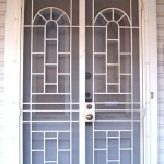 Double Security Door With Rectangle And Arch Details