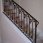 Forged Scroll Picket Stair Railing