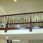 Forged Scroll Rail Panels With Wood