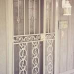 Gray Security Door With Side Panel
