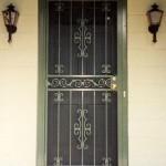 Green Security Door With Castings