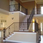 Interior Stair And Balcony Railing With Custom Posts