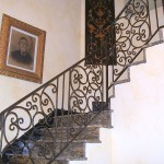 Interior Staircase Railing With Scroll Panels
