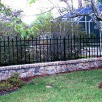 Iron Estate Fence With Collars & Finials