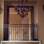 Private Balcony Railing With Scroll Border