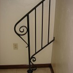 Stair Railing With Large Lambs Tongue Newel Post