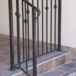 Straight Picket Railing With Collars