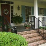 Straight Picket Railing With Large Newel Posts