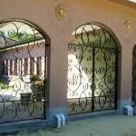 Mediterranean Styled Scroll Courtyard Gates